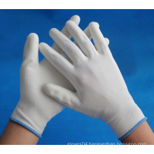 PU coated working gloves on palm