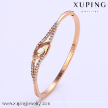 50797 conceptions de bracelets plaqués or Xuping dubai, dernière conception bracelets plaqués or 1 gramme