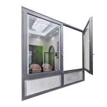 WANJIA casement aluminium windows built in blinds aluminum windows casement windows