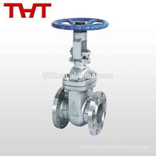 válvula de porta de tubo de óleo de haste ascendente de aço inoxidável pn16