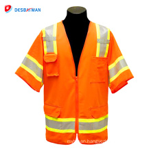 Hot selling cheap fashion professional hi vis vest with pockets
