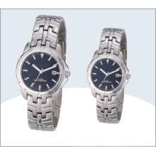 Classe Couple acier inoxydable montres, montre à Quartz 15190