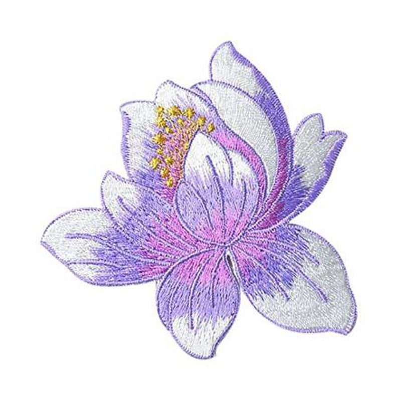 Lotus Applique Clothing Embroidery Patches
