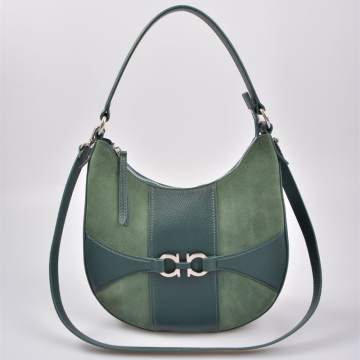 Sling Hobo bag Grand sac en cuir vert