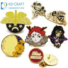 Fashion design no minimum custom made metal colorful enamel cute cartoon character lapel pin