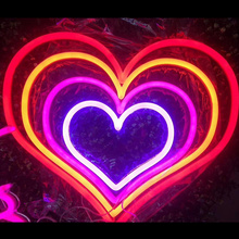 TANDA CAHAYA NEON LED HEART