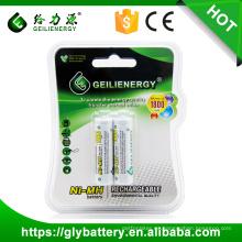 Geilienergy recargable Ni-mh / Ni-cd AA batería 1.2v 1800mah buena calidad