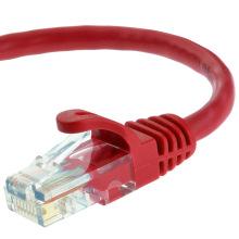 Cat5e UTP RJ45 cabo de cabo de patch Ethernet 15 pés vermelho