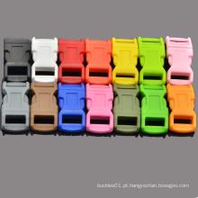 """1/2 """"colorido contornado curvo laterais liberação fivelas de plástico genérico para Paracord pulseira"""