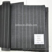 Em estoque seda lã misturado tecido para terno