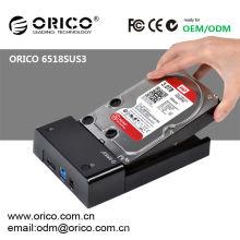 Station d'accueil pour disque dur mobile ORICO 6518SUS3; statine d'ancrage SATA HDD de 2,5 '' et 3,5 ''; station d'accueil HDD à 1 baie