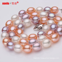 Multicolor AAA Rice Shape Geniune Pearl Necklace Wholesale