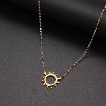 Necklace Blessing Gift Card Small Dainty Gold Sun God Light with Pendant Chain Classy Costume Choker Jewelry
