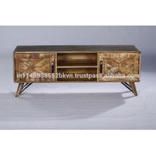 Panneau d'exposition industriel Salon de salon Meuble de télévision en bois