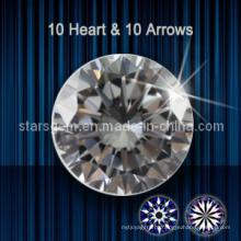 10 corações e 10 setas zircônia cúbica