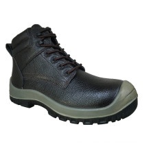 Hot Sell Casual Style Split Embossed Leather Safety Shoes (HQ8004)