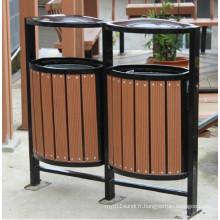 High Quanlity Outdoor Environment WPC Trash Bin