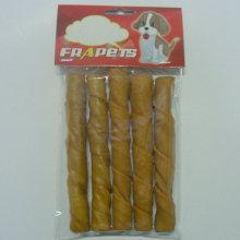 "Dog Food of 5""/18-20mm Smoked Pork Hide Twist Stick for Dog"