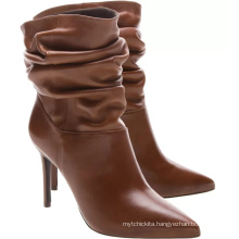 female fat calf winter ankle boot