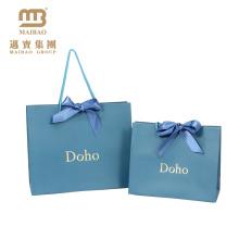 China Fabrica Atacado Luxo Impresso Folha De Ouro Do Logotipo Do Projeto De Casamento De Presente De Papel Personalizado Saco Com Alça