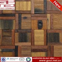 Telha de assoalho de madeira contínua misturada 300x300 no projeto da telha de mosaico