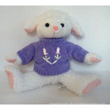 Kundenspezifische OEM-Design Plüsch Schafe mit Weste