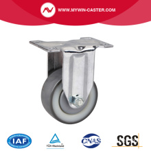 Chrome 3 pouces 130Kg Rigid TPU Caster