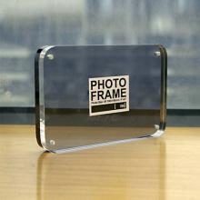 Displays transparentes de fotograma de acrílico, marcos magnéticos transparentes