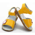 Wholesales Shoes Shiny Yellow Baby Squeaky