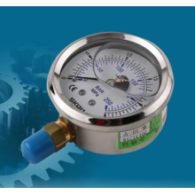 Visual hydraulic pressure gauge without cover