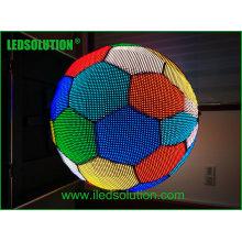 Exposição da bola do diodo emissor de luz do diâmetro de 1m / bola da tela diodo emissor de luz da esfera