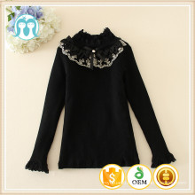 kids girls Bottoming shirt lace fur sweater for kids girls wear kids clothes