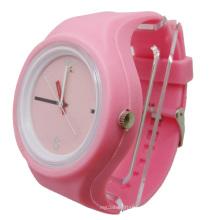 Pink Removable Case Umweltfreundliche Silikon Jelly Watch