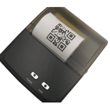 Tragbarer 58 mm thermischer QR-Code-Drucker Bluetooth