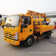 Grande venda Mini-guindaste montado em caminhão de 4 toneladas com guindaste de caminhonete de preço barato