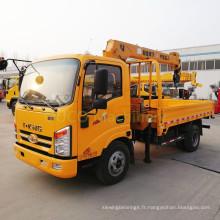 Vente chaude Mini grue montée sur camion de 4 tonnes avec grue de camionnette à prix bon marché