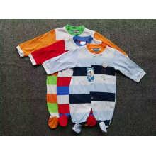 Baby Romper Verão / Outono Jumpsuit / Romper 100% Algodão Stock Apparel para 0m-24m