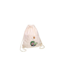 Natural white cotton bag accept customers' Logo