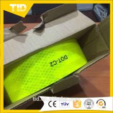 Fita reflexiva verde amarela fluorescente US DOT-C2