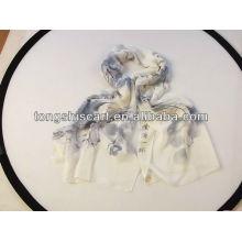 moda lenços de poliéster simples com paisagem de impressão
