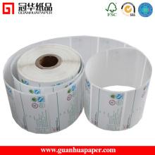 Material de papel e característica impermeável Etiqueta de adesivo de papel térmico
