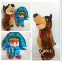 customized OEM design masha and the bear doll
