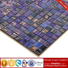 China factory purple mixed Hot - melt mosaic tile cheap floor tile