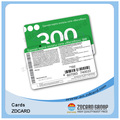 Tarjeta de visita de PVC transparente de plástico