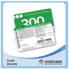 Impresión en offset plástica de la tarjeta magnética de la identificación del PVC del chorro de tinta
