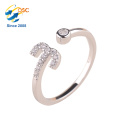 Twelve Constellations Platinum Rose Gold Plating Sterling Adjustable Opening Silver Ring Set