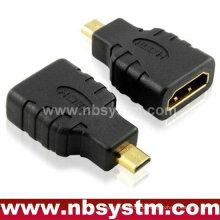 Mikro-HDMI-Adapter Ein Typ weiblich zu D-Typ männlichen Unterstützung Ethernet