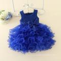 2017 venta caliente DDprincess 1-6 años de edad vestido de la muchacha del tutú del bebé