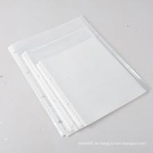 A4 Papier Reißverschluss Umschlagbeutel Schutzfolien