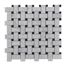 Soulscrafts Basketweave Marble Mosaic Tile for Kitchen